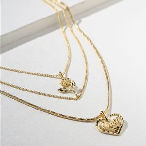 vanessa mooney the cielo rose & amor necklace gold